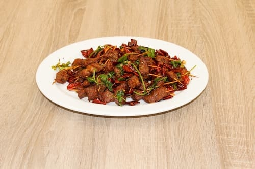 牙签羊肉 | Mutton Pieces with Pepper Sauce